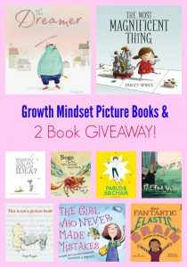 Growth Mindset Picture Books & 2 Book GIVEAWAY!