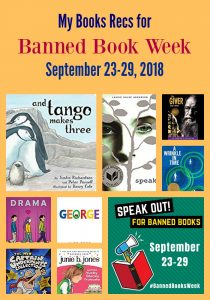 My Books Recs for Banned Book Week September 23-29