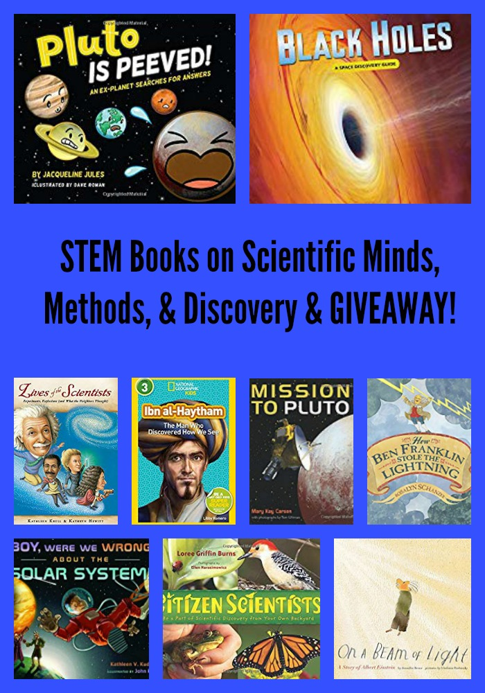 STEM Books on Scientific Minds, Methods, & Discovery & GIVEAWAY!