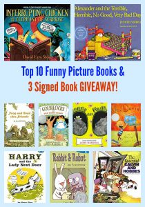 Top 10 Funny Picture Books & 3 Signed Book GIVEAWAY!