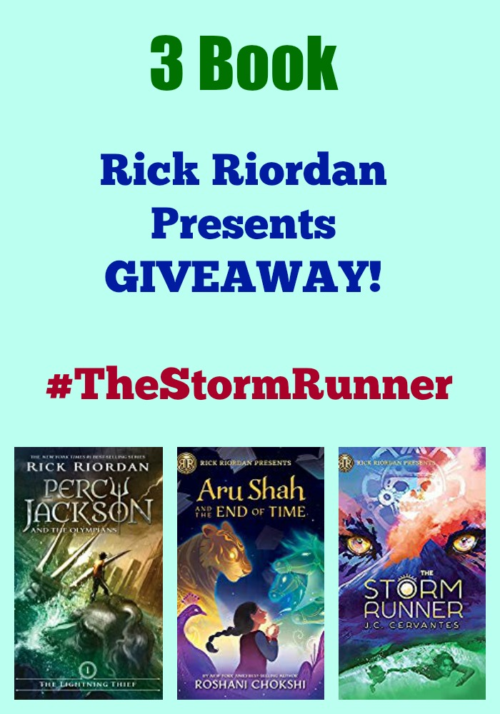 3 Book Rick Riordan Presents GIVEAWAY! #TheStormRunner