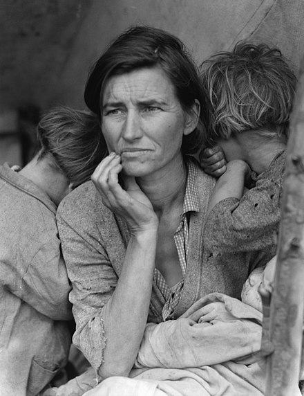 Dorothea Lange's iconic 1936 photograph, Migrant Mother