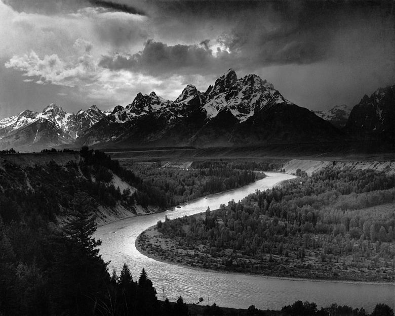 Ansel Adams The Tetons and the Snake River (1942)