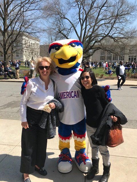 American University Eagle Mascot