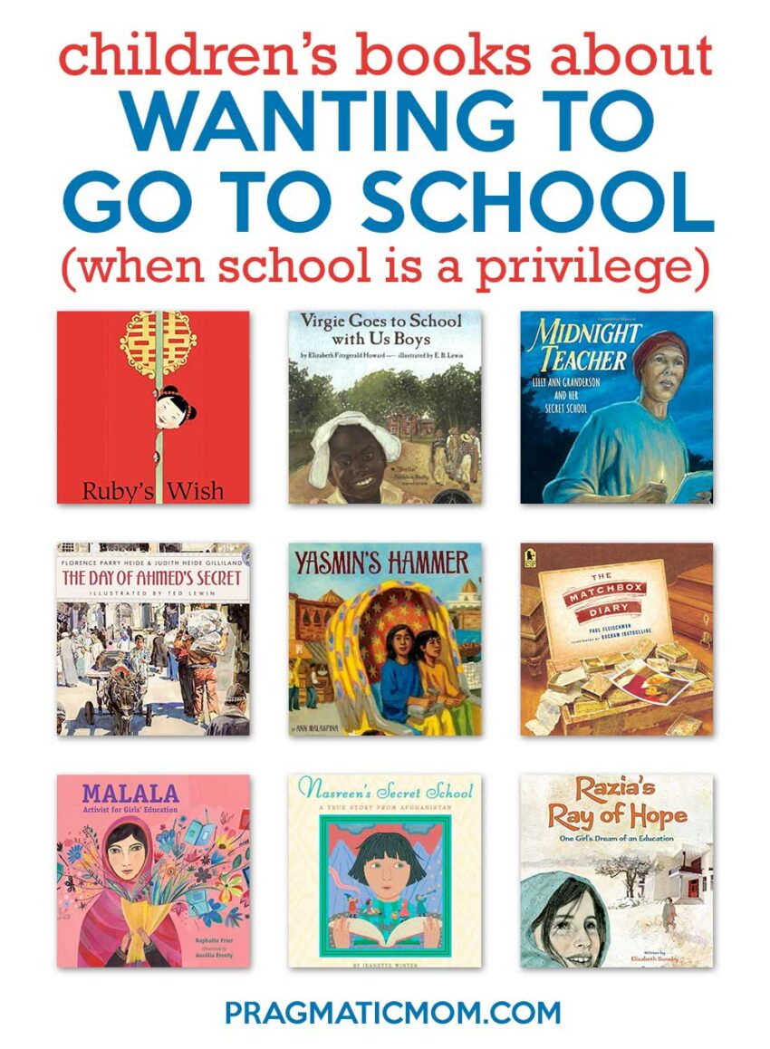 Children's Books about Wanting to Go to School (When School Is a Privilege)