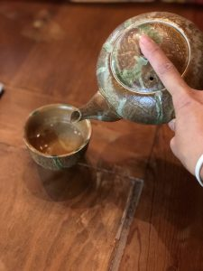 Pouring Japanese Tea Ceremony: Sado