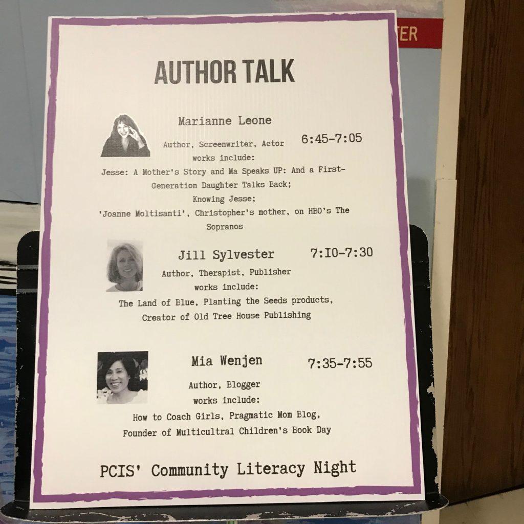 Mia Wenjen Family Community Literacy Night Presentation at Plymouth Community Intermediate School
