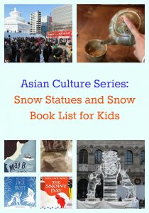 Snow Statues Activities and Snow Book List for Kids