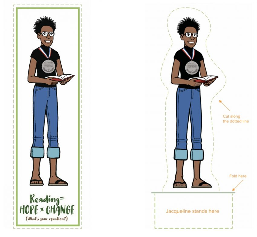 Jacqueline Woodson character to use as a bookmark