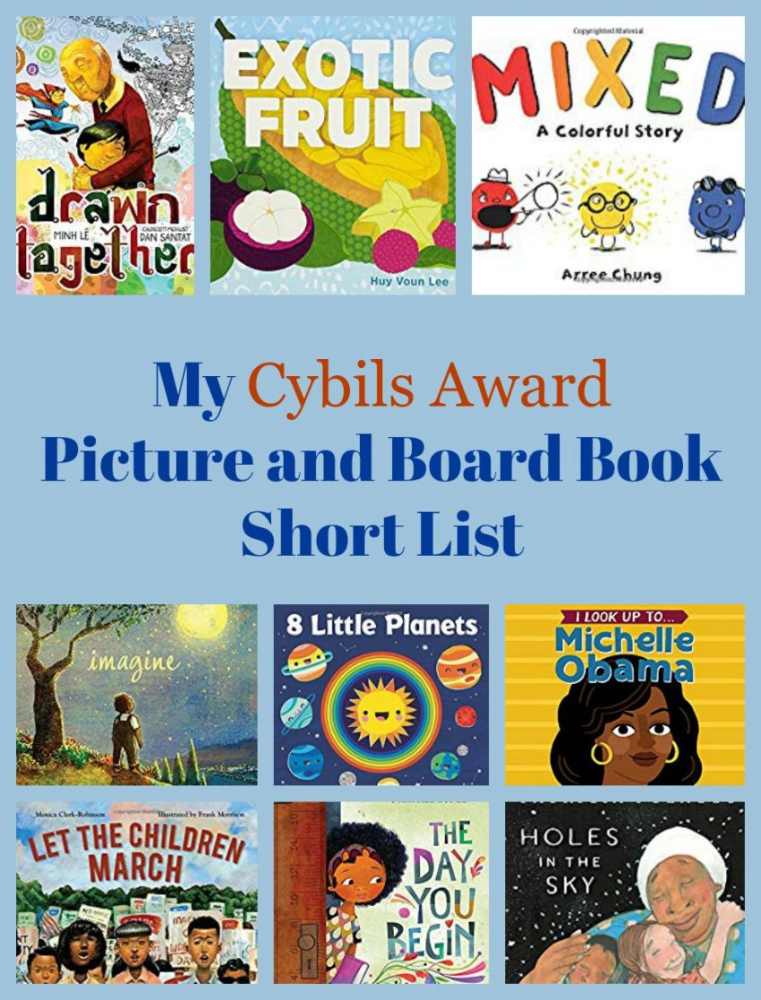 My Cybils Award Picture and Board Book Short List