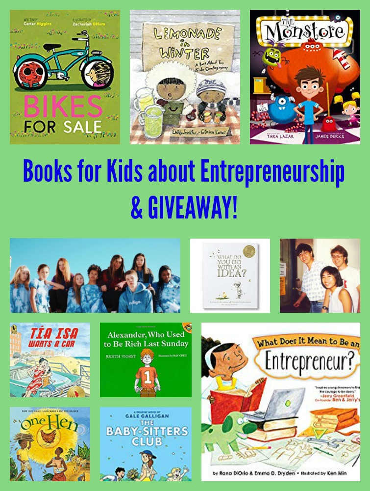 Books for Kids about Entrepreneurship & GIVEAWAY!