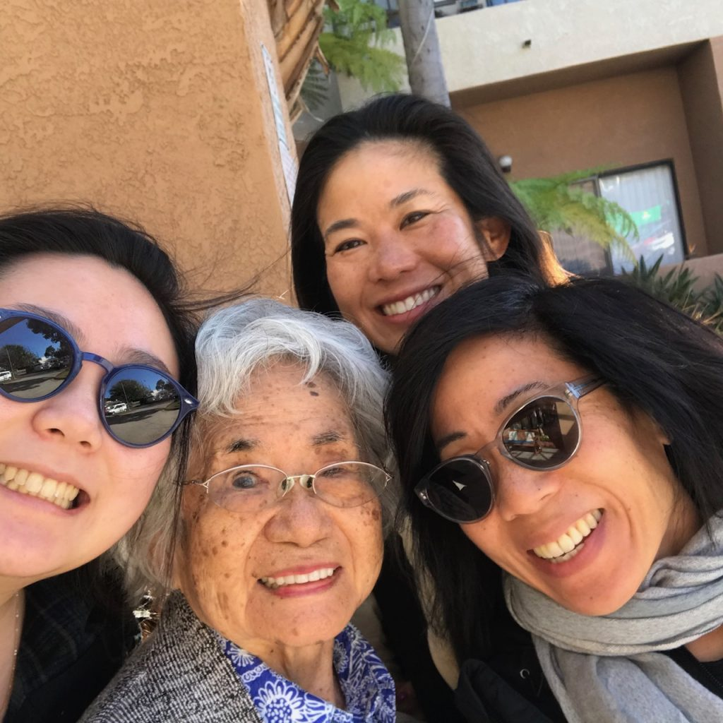 With my mom, sister and oldest daughter