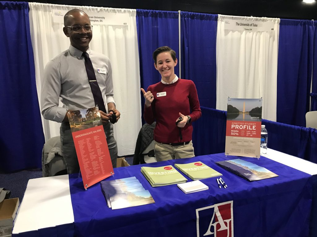 American University at National College Fair in Boston