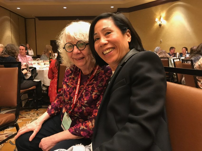 Margo Lemieux and Mia Wenjen at NESCBWI 2019