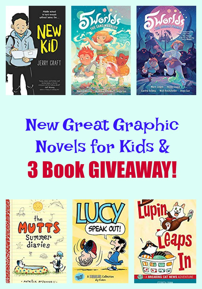 New Great Graphic Novels for Kids & 3 Book GIVEAWAY!