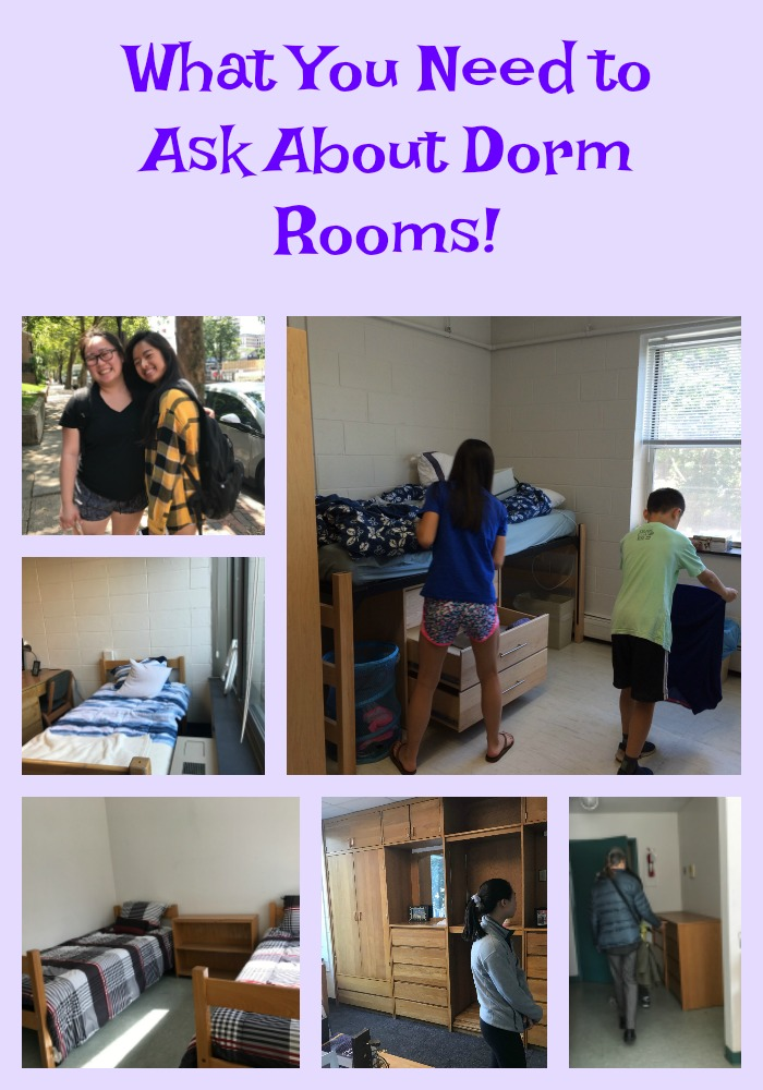 What You Need to Ask About Dorm Rooms!