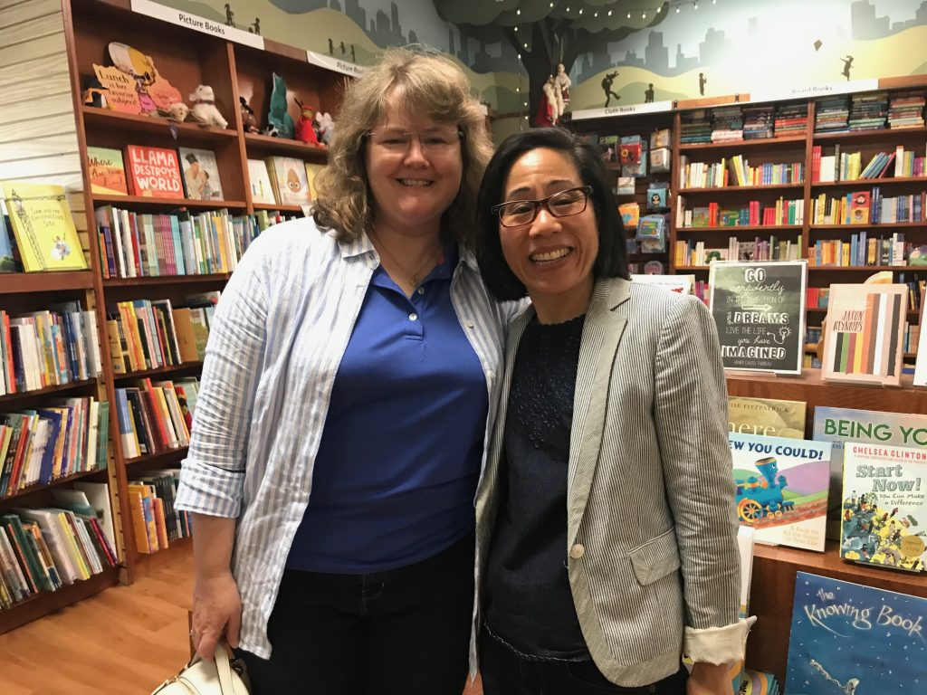 Lynda Mullaly Hunt at Erin Dionne Secrets of a Fangirl book event
