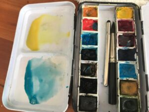 Monet waterlily art project with kids