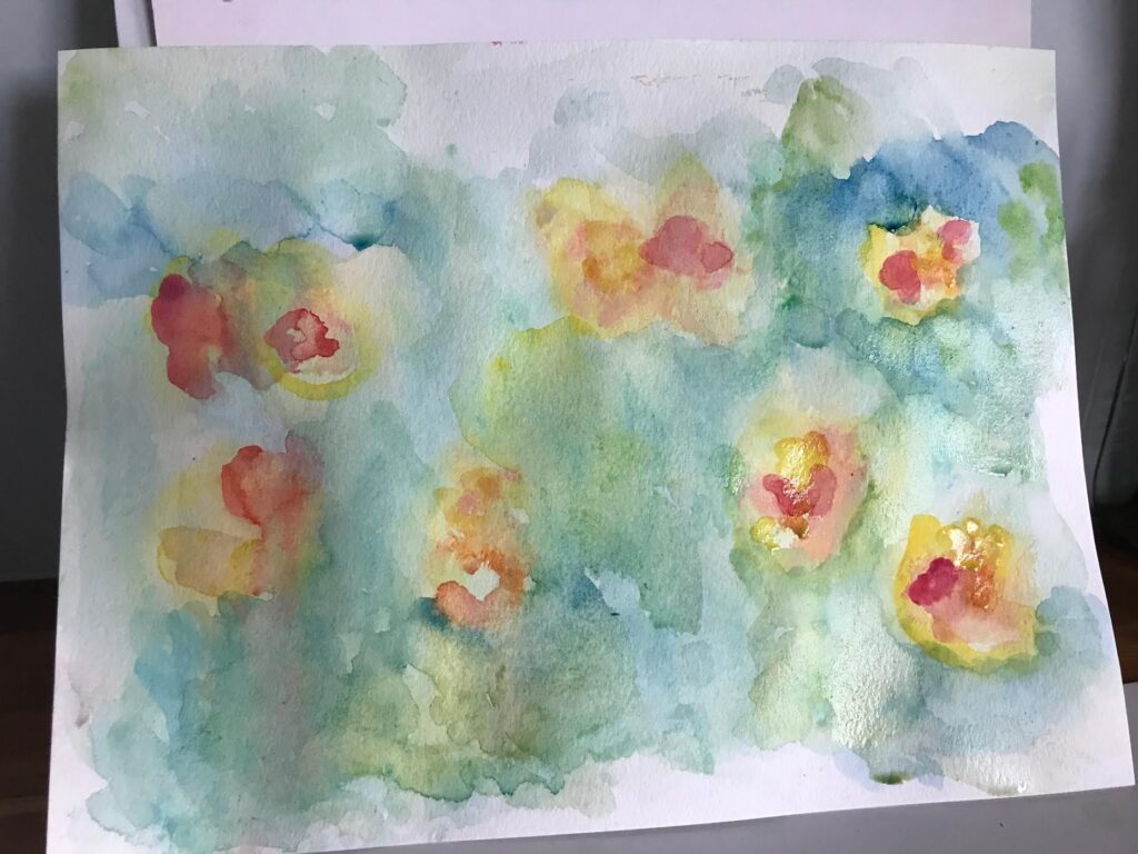 Monet's Water Lilies art project for kids