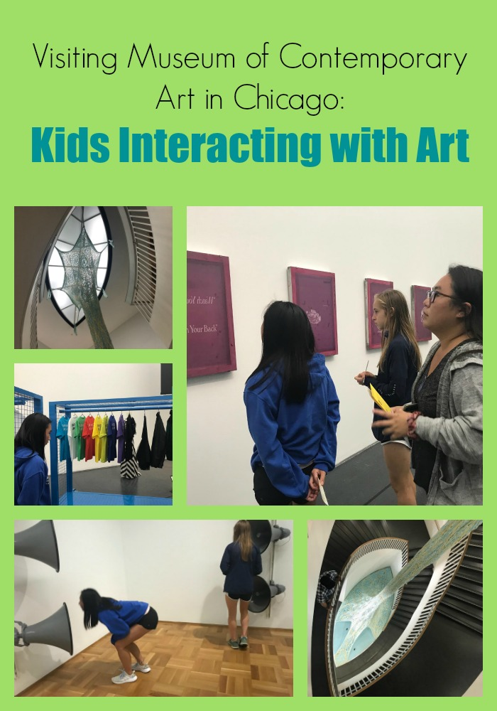 Visiting Museum of Contemporary Art in Chicago: Kids Interacting with Art