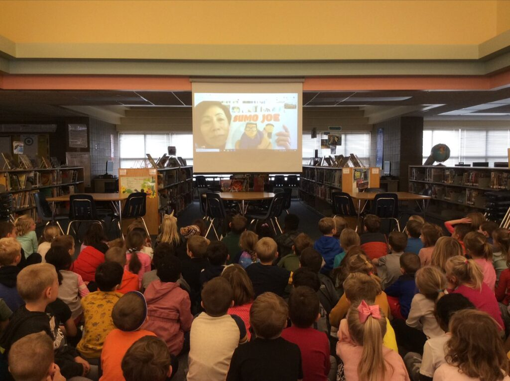 Sumo Joe Skype Author Visit