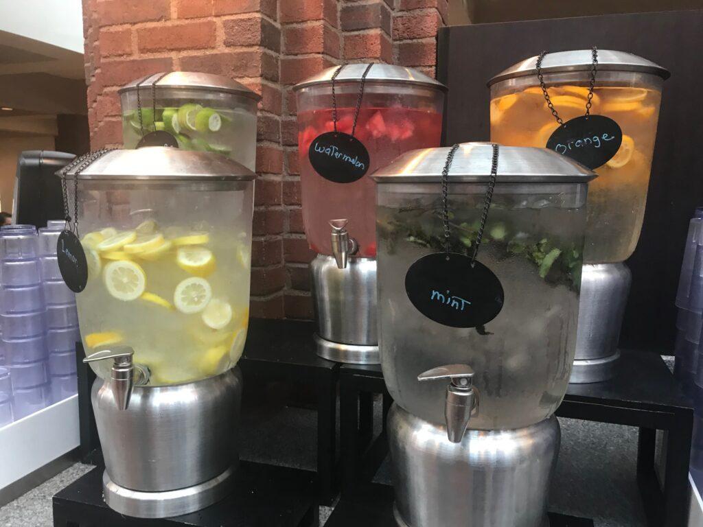 Colgate University has flavored water