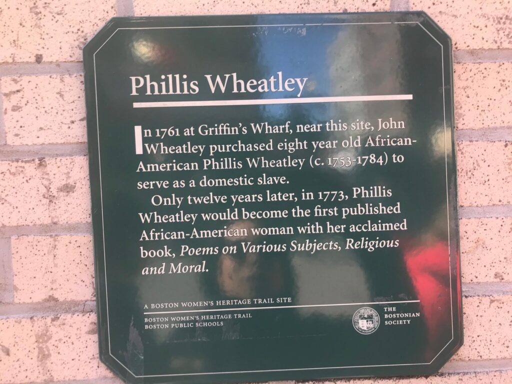 Phillis Wheatley slave auction in Boston Chinatown