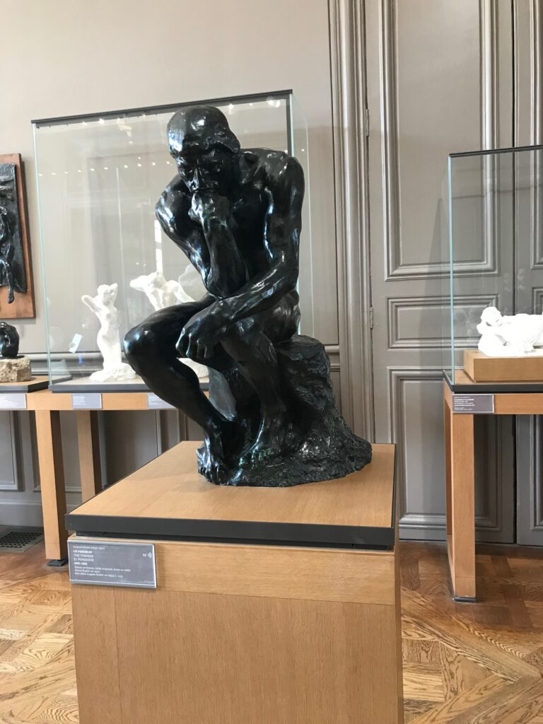 The Thinker small sculpture at Musee Rodin