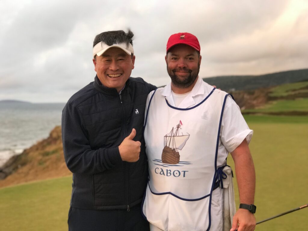 our caddy Junior at Cabot Links