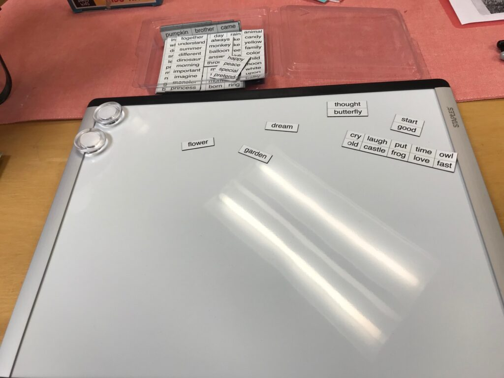 magnetic Words to teach poetry