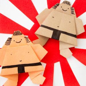 Quirky Origami Sumo Wrestlers