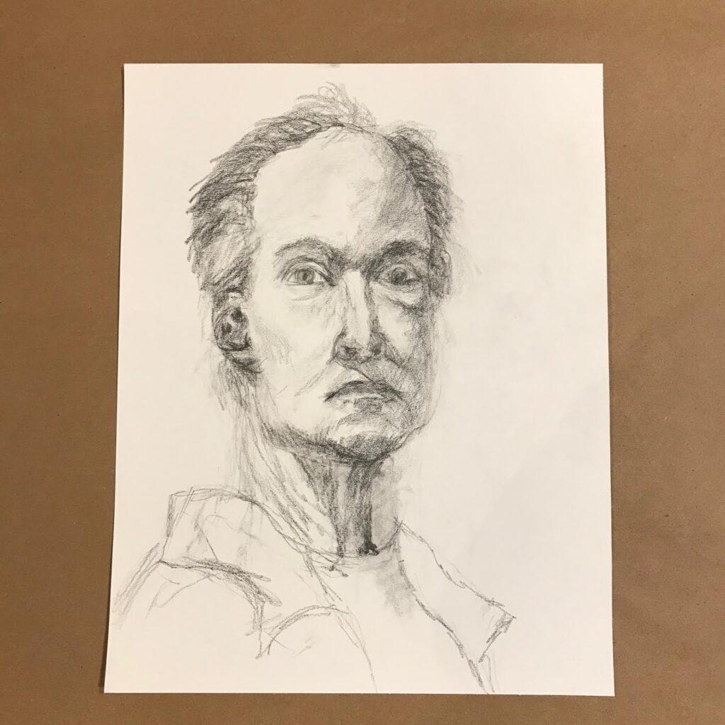 Mia Wenjen portrait drawing class