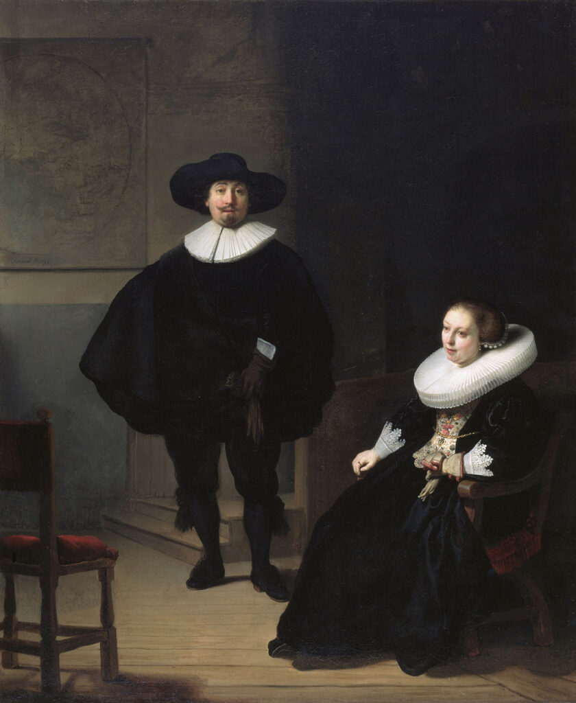 A Lady and Gentleman in Black – Rembrandt