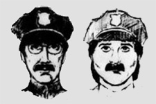 Police sketches of the thieves