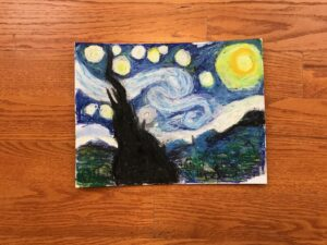 Van Gogh Starry Night art project for kids