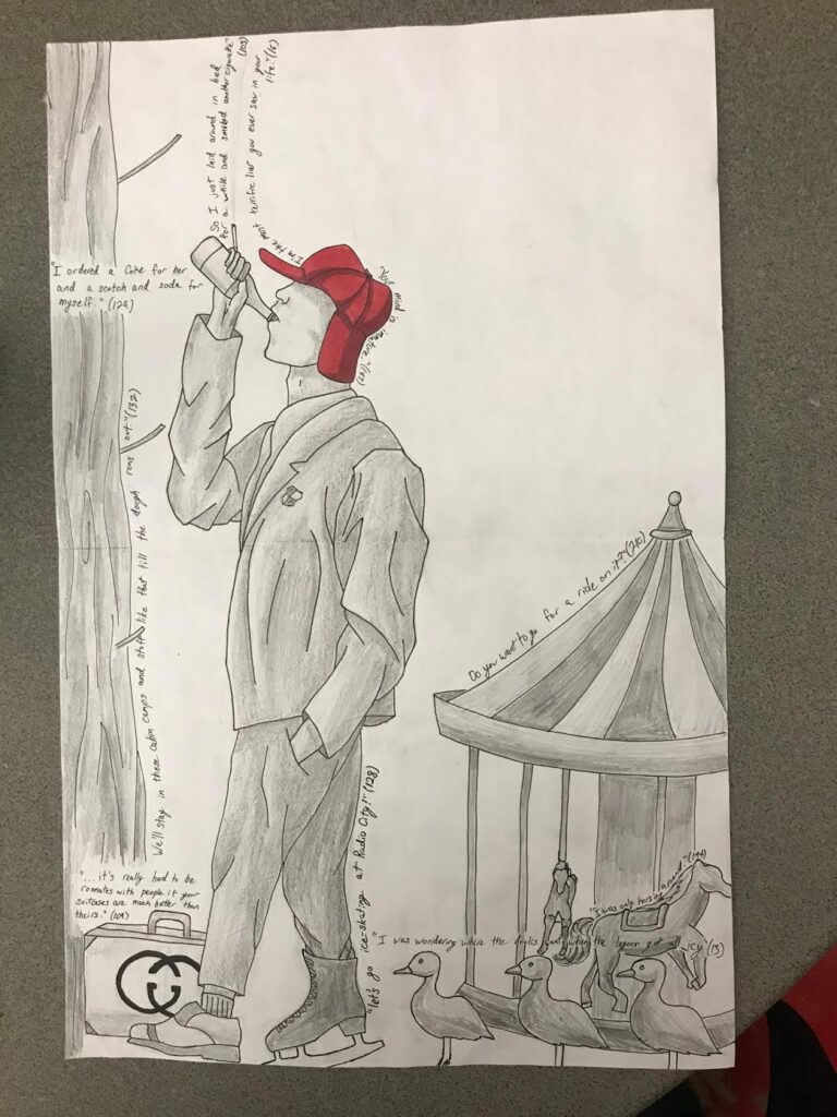 Catcher in the Rye English drawing assignment