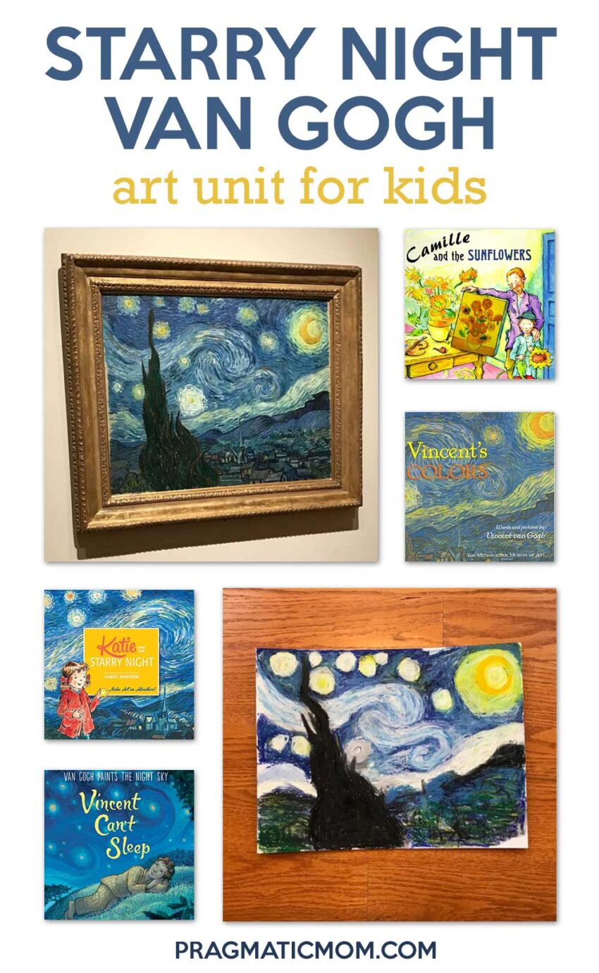 Starry Night Van Gogh Art Unit for Kids