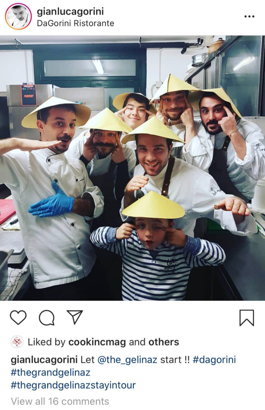 chef Gianluca Gorini is racist