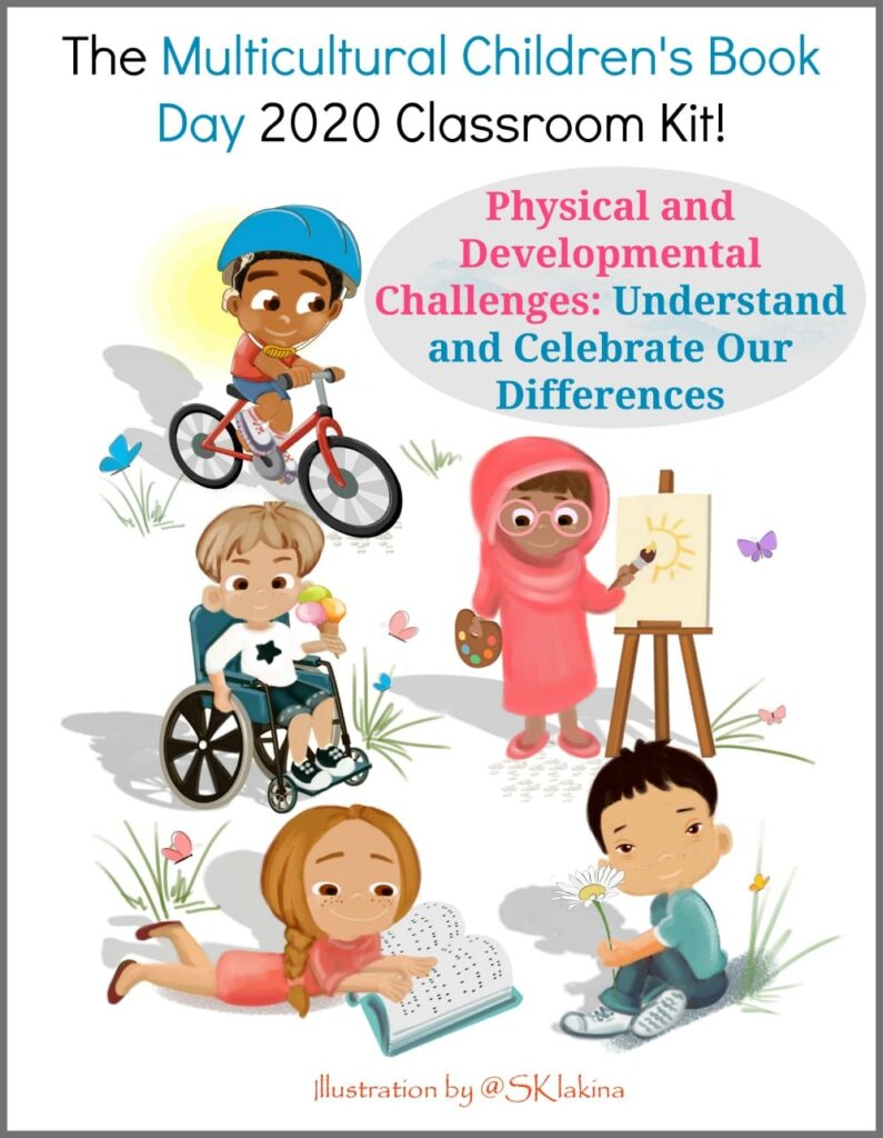 S. K. Lakina illustrated our 2020 Classroom Kit on Physical and Developmental Challenges