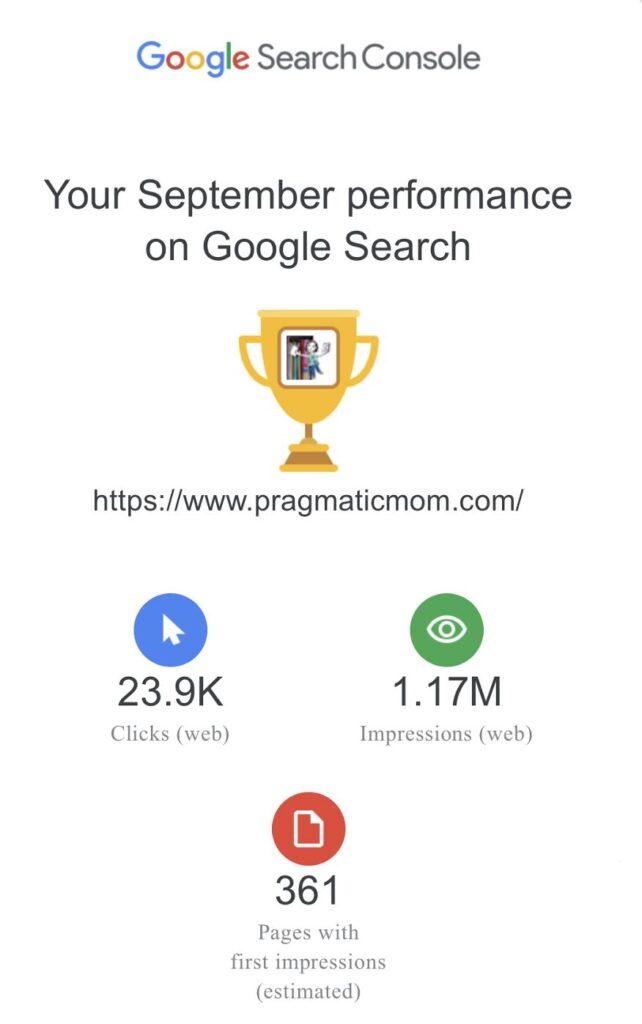 PragmaticMom Blog Traffic Stats