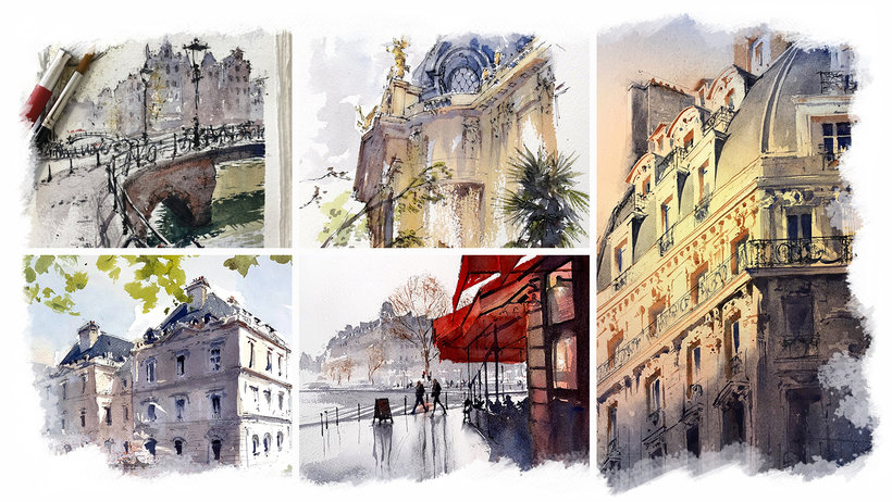 Architecture Sketching with Watercolor and Ink Course Alex Hillkurtz