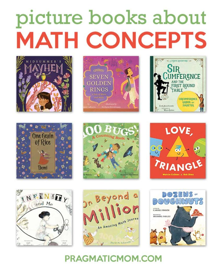 111 (also known as 7) Math Picture Books to Count On & GIVEAWAY!