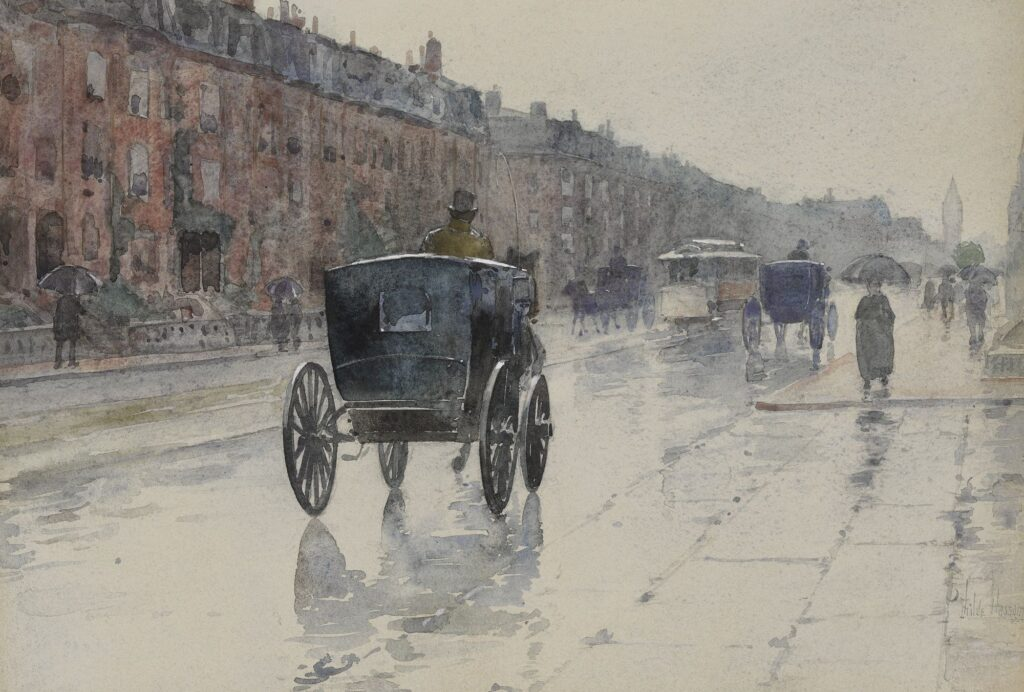 Childe Hassam watercolor painting