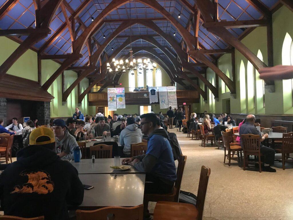 Hamilton College dining hall looks like Hogwarts