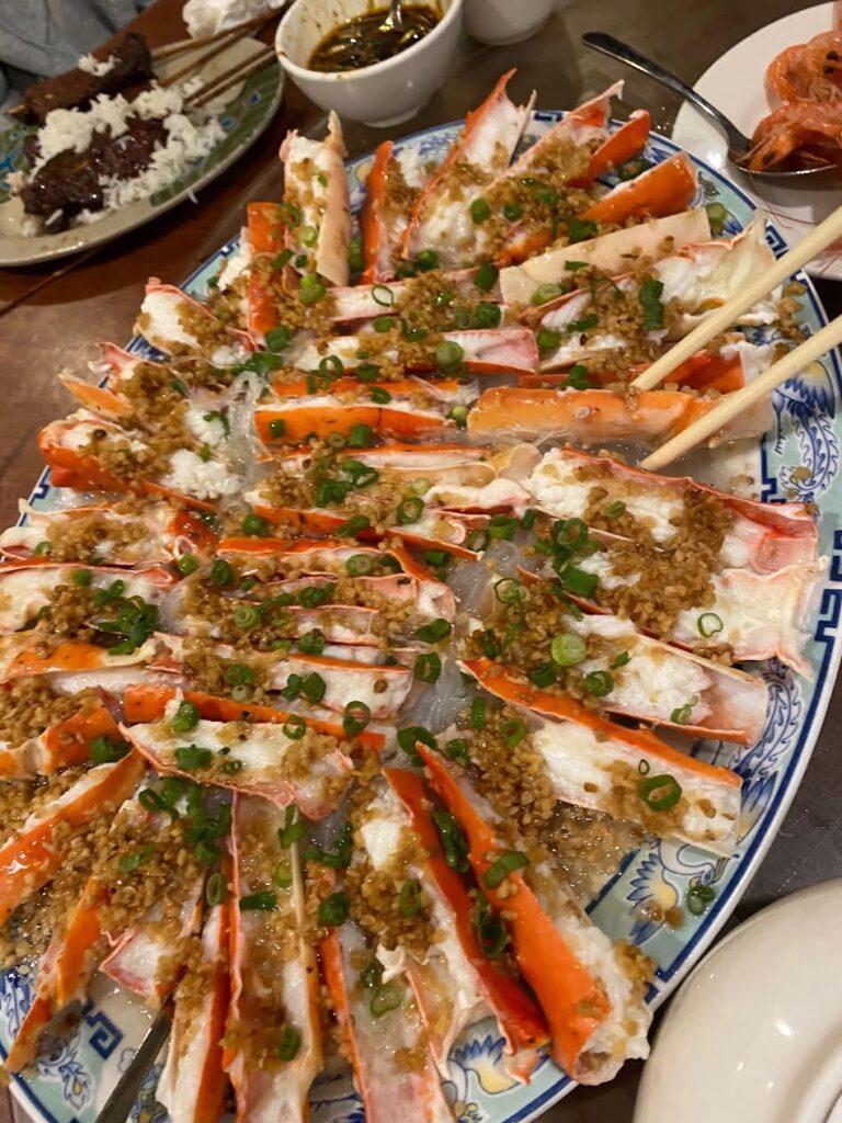 King Crab at Peach Farm Restaurant in Boston Chinatown