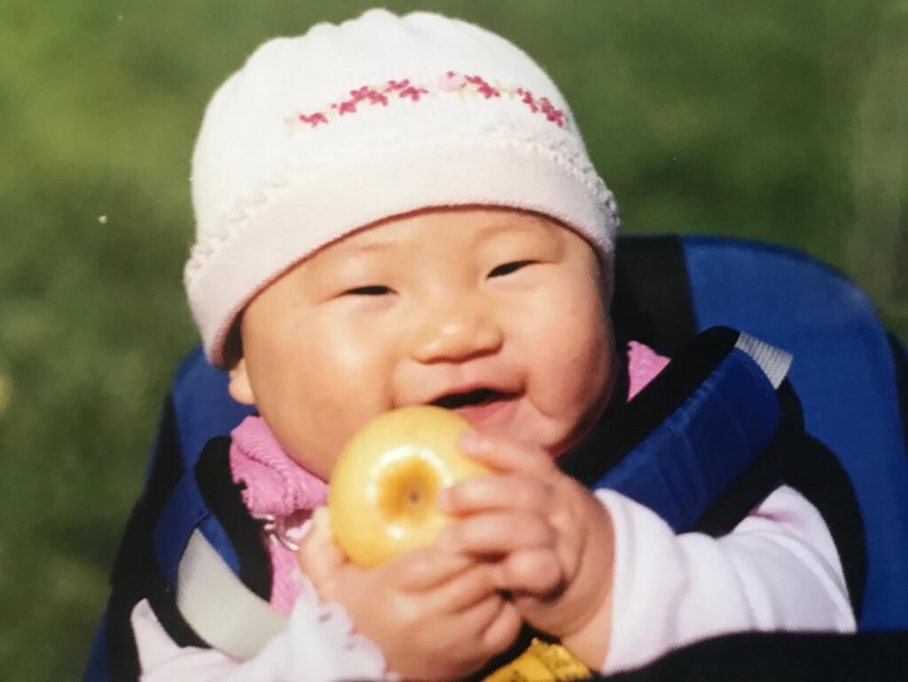 Ali Lee as baby