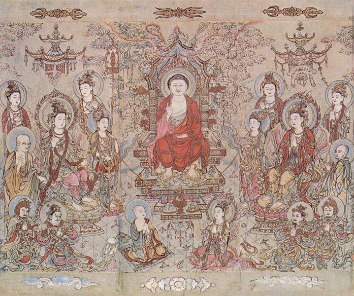 The Sakyamuni Buddha, by Zhang Shengwen, 1173-1176 C.E. Song Dynasty period / National Palace Museum, Wikimedia Commons