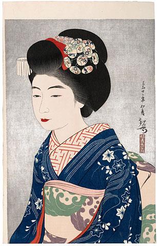 oshikawa Kanpo, (1894-1979) Kanpo's Creative Prints, First Series: The Geisha Hinazo (Kanpo Sosaku-Hanga Shu Daiishu: Hinazo)