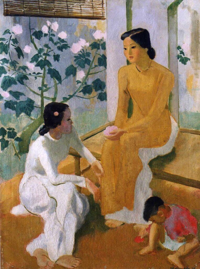 To Ngoc Van, Deux Jeunes filles et un enfants, 1944, oil on canvas, Museum of Fine Arts, Hanoi