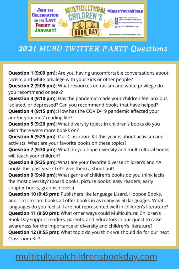 2021 Multicultural Children's Book Day Twitter Party Questions